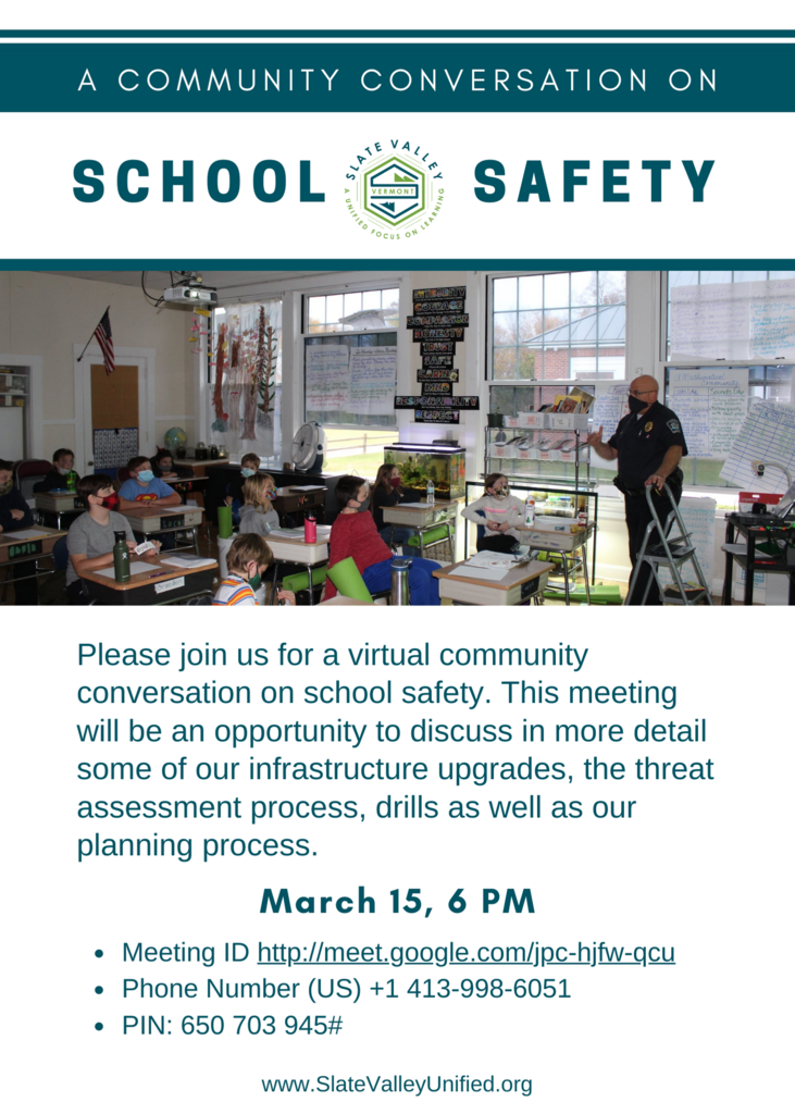 March 15 School Safety Forum