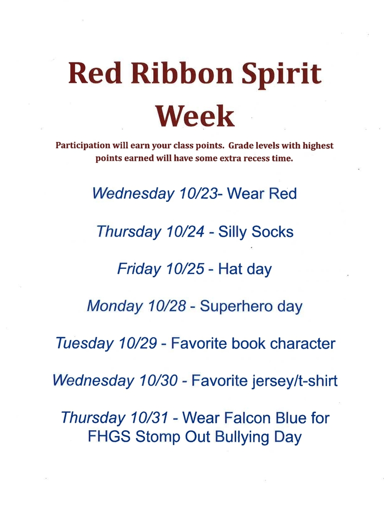 Red Ribbon Spirit Week