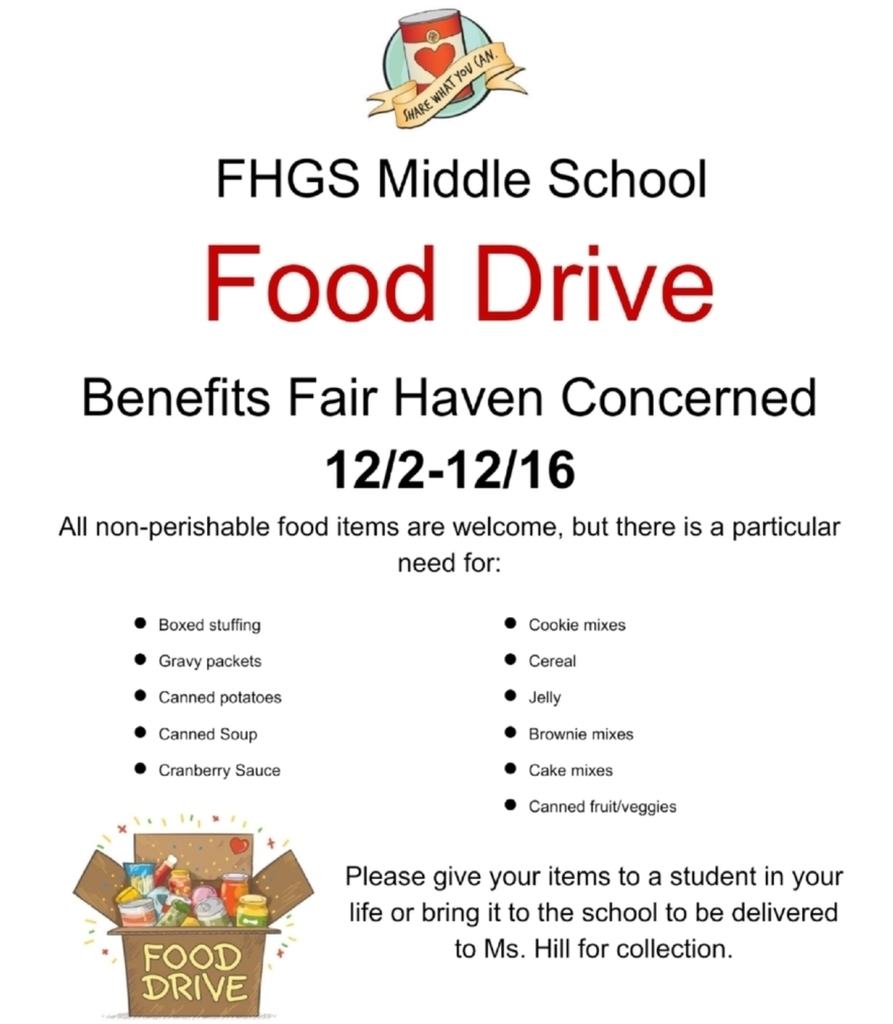 Food Drive to benefit Fair Haven Concerned