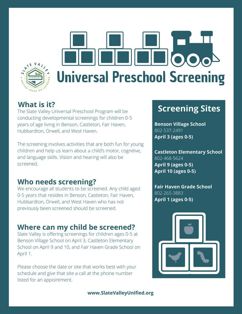 UPK Universal Screening